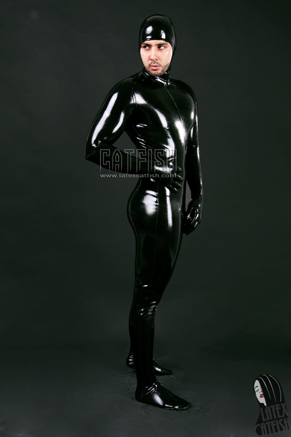 Latex Face Entry Catsuit